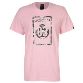 adidas 03 Camo T Shirt Mens, Pink/Blk/Grey, XL